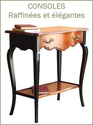 Console élégante style classique en bois de qualité, console classique pour l'entrée avec tiroir