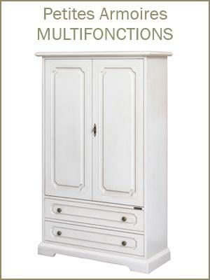 Armoire placard de rangement multifonction en bois style classique avec portes et tiroirs, Meuble de rangement bas en bois style classique