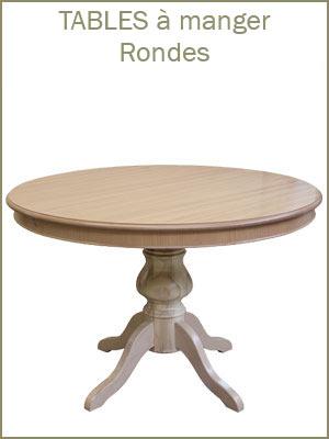 Table de salle à manger ronde style classique avec allonge centrale, table à manger ronde avec pied central