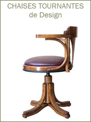 Chaise de bureau tournante, fauteuil de bureau en bois, chaise tournante en bois, fauteuil pivotant classique