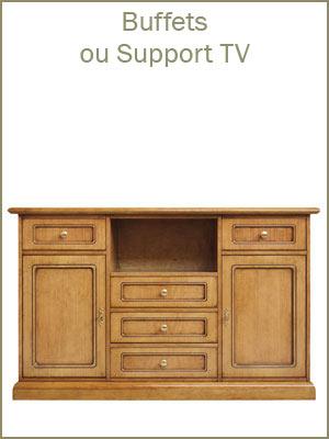 Meubles buffets de rangement tv en bois, meuble tv haut style classique en bois, meuble de rangement multifonction