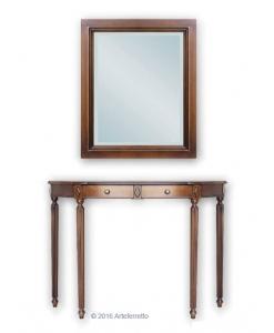 Composition console et miroir