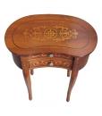 petite table haricot marquetée