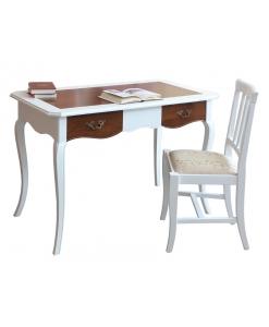 Bureau, bureau en bois massif, bureau classic, bureau bicolore, ameublement pour le bureau, ameublement de style