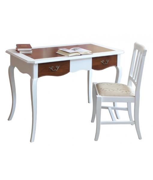 bureau merisier massif bicolore lamaisonplus. Black Bedroom Furniture Sets. Home Design Ideas