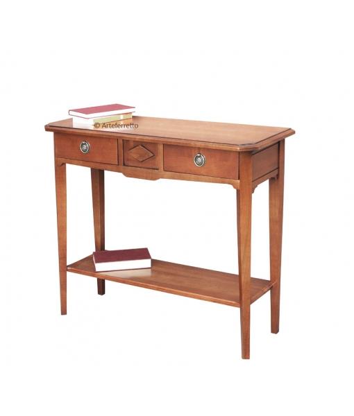 Table console 90 cm avec 2 tiroirs, Réf. D907