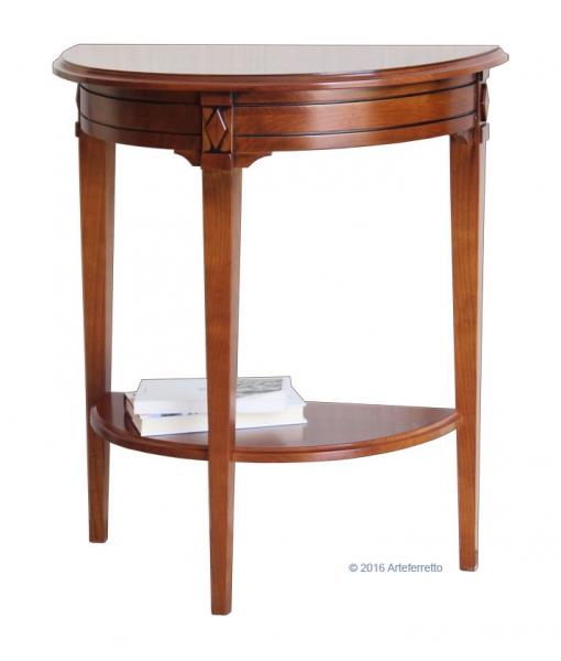 console demi lune, console, console en bois, console pour l'entrée, console pour le salon, Réf. D911