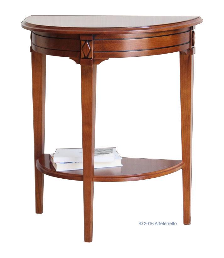 console demi lune classique console en bois massif ameublement pour le salon ebay. Black Bedroom Furniture Sets. Home Design Ideas