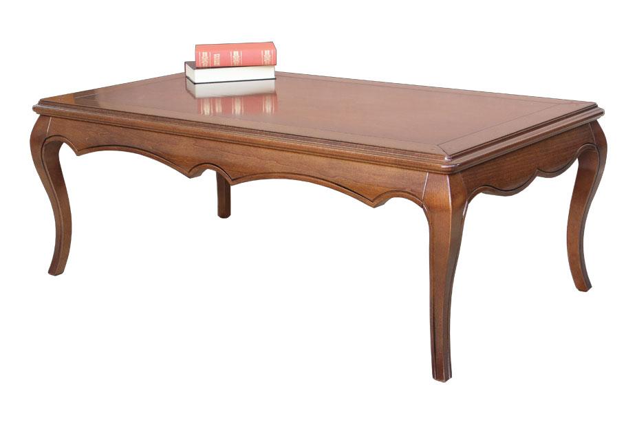 Table basse de salon bois massif table de caf ameublement salon classique - Table basse classique ...
