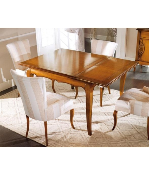 Table carr e 120 cm rallonge lamaisonplus for Table carree 120 cm