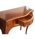 Dettaglio cassetto consolle in legno massello fatta a mano 6801-66