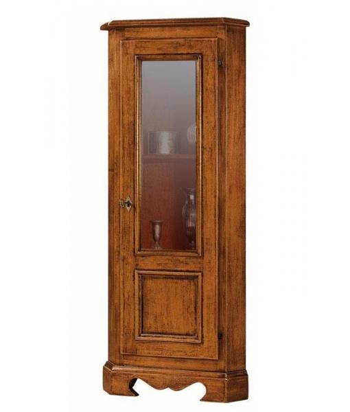 Meuble d'angleporte vitrée . Réf: E-0121
