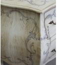 commode bombée, commode, commode classique, commode décorée, commode en bois, zone nuit