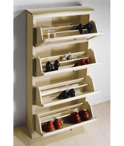 Meuble à chaussures, meuble en bois, ameublement classique, meuble avec décoration