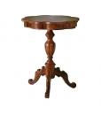 Table guéridon marquetée, table de salon, table en bois