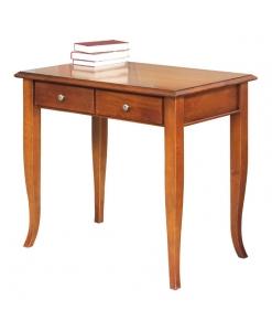 petit bureau, petit bureau classique, bureau en bois, bureau avec 2 tiroirs, ameublement de style, ameublement classique