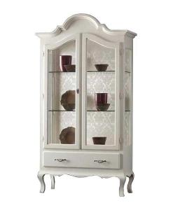vitrine, vitrine laquée, vitrine modelée, vitrine classique, vitrine pour le salon, vitrine de style classique