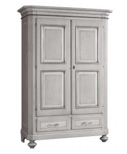 armoire 2 portes, armoire classique, armoire en bois, armoire pour la chambre à coucher, zone nuit