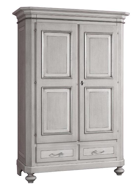 Armoire 2 portes 2 tiroirs d montable armoire en bois for Armoire chambre bois massif
