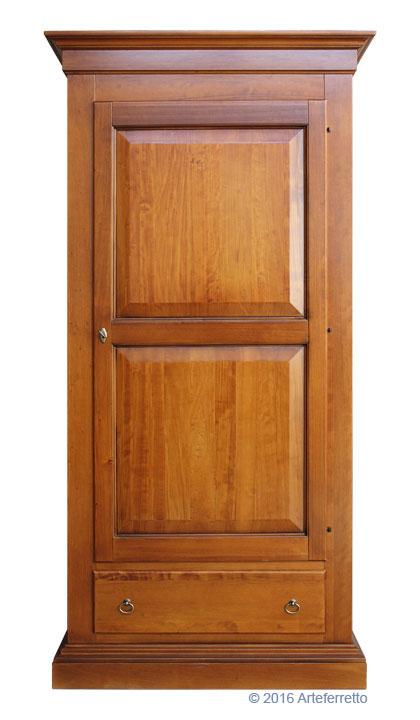 Armoire penderie bois massif placard de chambre achat for Armoire penderie chez but