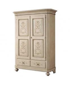 armoire 2 portes, armoire, armoire en bois, armoire de style, zone nuit