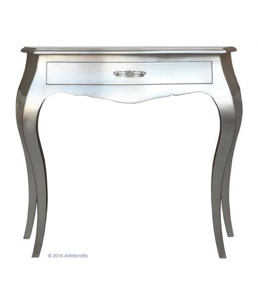 console, console en bois, console feuille d'argent, Art. E-8441