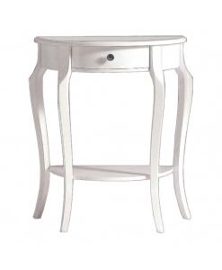 Console laquée avec tiroir, console blanche