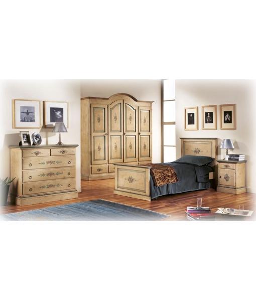 armoire démontable, chambre à coucher romantique