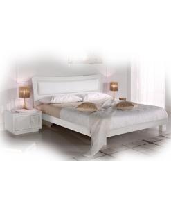 lit en frêne brossé, lit laqué, chambre double