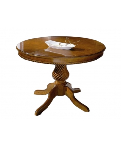 table ronde extensible 120 cm diamètre, table classique, table en bois