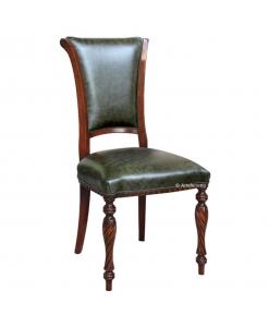 chaise en cuir, chaise classique, chaise merisier