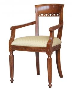 chaise bout de table, chaise merisier, salon, salle à manger