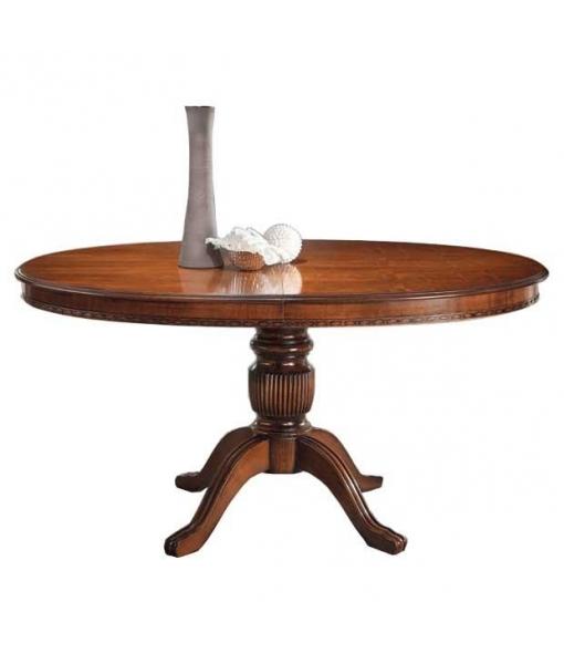 Table rallonge ovale cm 160 lamaisonplus - Table ovale rallonge ...