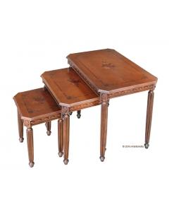Trio tables gigognes, tables basse pour salon, table d'appoint basse