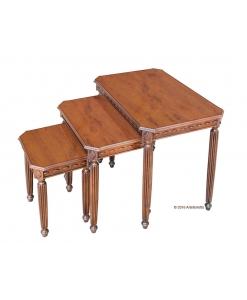Trio tables gigognes, table basse pour salon, trio tables basses
