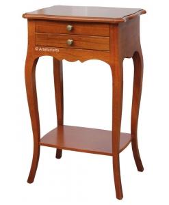 Table téléphone 2 tiroirs en bois