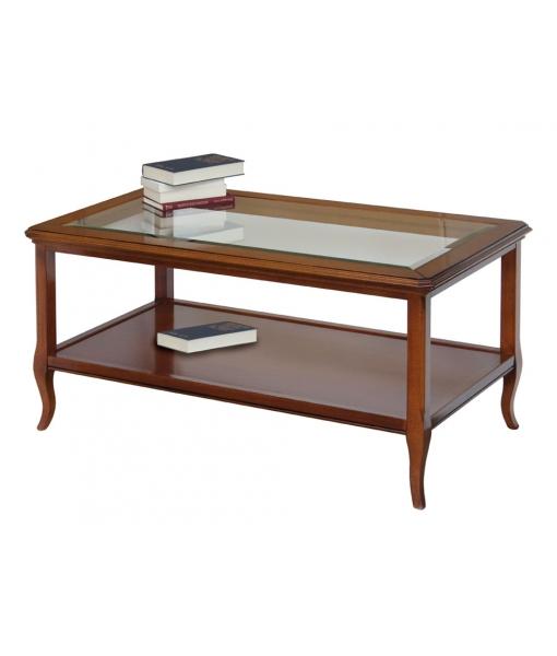 table basse classique plateau en cristal lamaisonplus. Black Bedroom Furniture Sets. Home Design Ideas