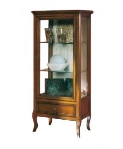 vitrine, vitrine classique, vitrine en bois, vitrine pour le salon, style classique, ameublement pour le salon, ameublement classique, ameublement de style pour la maison