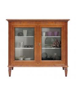petite vitrine marquetée, vitrine, vitrine basse, petite vitrine, vitrine classique, vitrine de style classique, ameublement de style pour la maison, ameublement classique pour le salon
