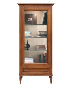 vitrine marquetée, vitrine, vitrine avec 1 tiroir, vitrine classique, vitrine de style, ameublement de style, ameublement classique pour le salon