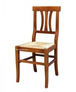 Sedia fondino in paglia per uso quotidiano