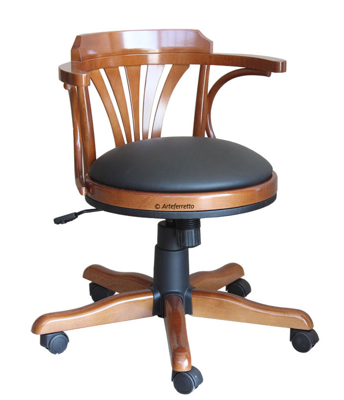 fauteuil pivotant avec roulettes lamaisonplus. Black Bedroom Furniture Sets. Home Design Ideas