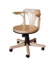 Fauteuil de bureau, ameublement pour le bureau, fauteuil tournant, fauteuil tournant en bois