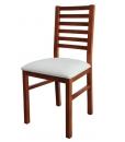 chaise en bois massif, chaise assise rembourrée, chaise de cuisine, salle à manger