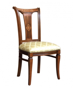 chaise en bois massif, chaise de style, chaise tissu, chaise en bois