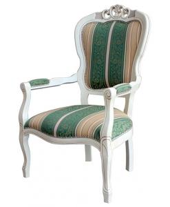 Fauteuil Shabby Chic, ameublement pour le salon, ameublement de style classique, sejour classique, fauteuil laqué