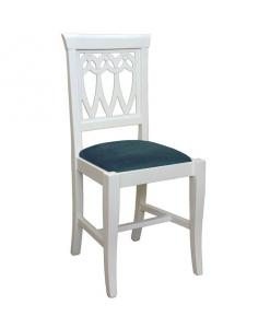 chaise traditionnelle, chaise assise rembourrée, chaise blanche, chaise de repas