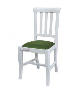 chaise de repas, chaise rembourré, chaise blanche