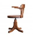 Fauteuil tournant, fauteuil de bureau, fauteuil en bois