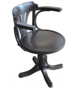 Fauteuil tournant, chaise tournante 180°, fauteuil de bureau, pièce d'étude